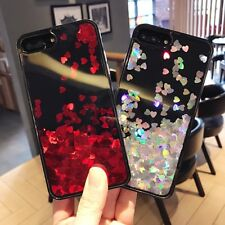Love Heart Glitter Quicksand Phone Back Hard PC Slim Case Cover For iPhone 6 7 8