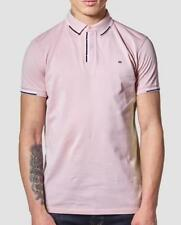 WEEKEND OFFENDER CATHER POLO SHIRT IN PETAL(Pink)