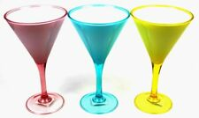 Contemporary Double Wall Tupperware Martini Wine Drinking Glass Cup Party