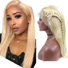 Perruque Blonde Lace Wig Bresilienne Lace Front Wig Naturel Blond Straight Human