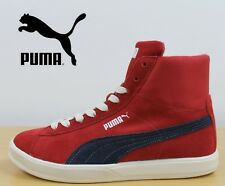 PUMA Archive Lite Mid Suede Trainers Boys Red Leather Hi Top Sneakers 35642604