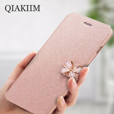 Luxury Crystal Diamond Butterfly Leather Flip Wallet Case For iPhone X 8 7 6 5