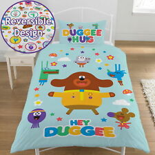 Hey Duggee Official Reversible Kids Character Single Bedding Set Duvet Cover