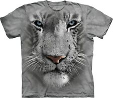White Tiger Face Big Cats T Shirt Adult Unisex The Mountain