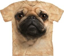 Pug Face Dogs T Shirt Adult Unisex The Mountain