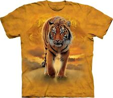 Rising Sun Tiger Animal T Shirt Adult Unisex The Mountain