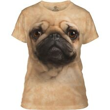 The Mountain Ladies Adult Pug Face Dog T Shirt