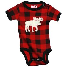LazyOne Unisex Moose Plaid Applique Babygrow Vest