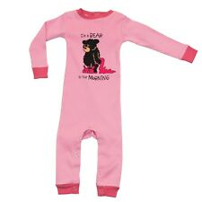 LazyOne Girls Bear In The Morning Infant Sleepsuit