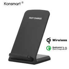 QI Wireless Fast Charging Charger Dock Stand Holder Base For iPhone 8 X Android