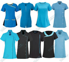 BLUE /TURQUOISE BEAUTY TUNICS FOR SALONS, SPA, HAIRDRESSER, HEALTH PROFESSIONALS