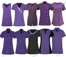PURPLE BEAUTY TUNICS FOR SALONS, SPAS, HAIRDRESSERS, HEALTH CARE PROFESSIONALS
