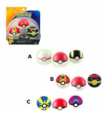 Pokemon Go Throw N Catch Poke Ball 3 Pack Glow in the Dark Balls