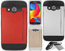 For Samsung Galaxy Avant G386T NEST HYBRID CARD Kickstand Case + Scree