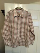 Ladies Double Two Red and Black Check Long Sleeved Blouse BNWT