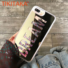Luxury Quicksand Glitter Powder Hard Clear Mirror Phone Case Cover For iPhone