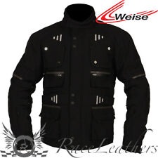 WEISE BALTIMORE BLACK WATERPROOF BREATHABLE MOTORCYCLE JACKET + OUTLAST LINING