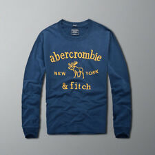 Abercrombie & Fitch Men Long Sleeve Muscle fit Navy T-shirt Tee Size S-XXL