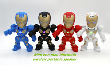 New Iron-Man robot mini portable wireless Bluetooth speaker support TF card