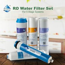 5PCS Universal Compatible Reverse Osmosis RO Water System Filter Replacement Set
