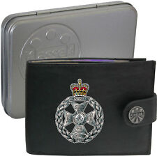 The Royal Green Jackets Army on Mens Wallet Real Leather RFID Chain Keyring