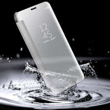 Ultra Thin UV Mirror Flip Clear Window View Phone Case Cover For Samsung iPhone