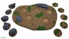 Modular Rural Forest Terrain Base (Medium) Wargames Scenery,Warhammer,Epic,FOW
