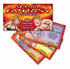 NEW! Novelty Vouchers Hot Naughty Bedroom Fun Sealed Sex Cheques Scratch Cards