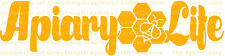 Apiary Life Vinyl Decal Bees Honeycomb Honey Sticker