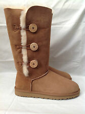 BNIB Authentic UGG Australia Kids Triplet Bailey Button Boots (Size 12) Chestnut