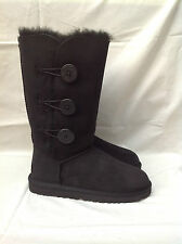 BNIB Authentic UGG Australia Kid's Black Triplet Bailey Button Boots (Size: 12)