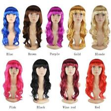 Women's Sexy Long Curly Fancy Dress Full Wigs Cosplay Costume Wig Party NEW