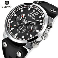 BENYAR Mens Watches Quartz Waterproof Sports Wrist Watch Military Pilot Silicone