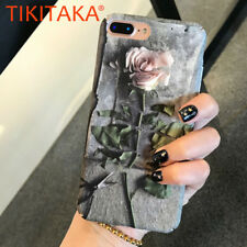 Slim Retro 3D Floral Flower Rose Soft Matte Phone Case Cover For iPhone 6 7 8