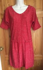 Brand New WOOLRICH Womens Ladies Dress 100% Cotton Red Stripped Summer UK 8/10 S