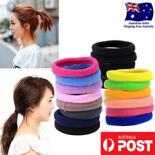 Women Girls colorful 8pc Hair Band Ties Rope Elastic Hairband Ponytail Holder