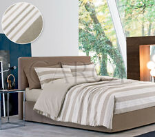 TRAPUNTA INVERNALE PIUMONE- MULTIRIGHE(gr 320)DOUBLEFACE BEIGE-100%MADE IN ITALY