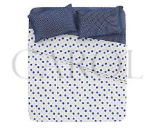 COMPLETO LENZUOLA POIS100% COTONE MADE IN ITALY - BLU