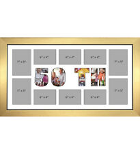 50TH Photo Frame Personalised Name Frames | White Mount