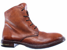 Scarpe Stivaletto Donna MOMA 83705-R1 Pelle Marrone Vintage Made In Italy New