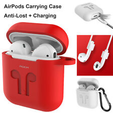 iPhone X 8 7 Plus Apple Airpods Case Anti-Lost Strap Hook Charging Rub