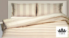 COMPLETO LENZUOLA RIGHE CHIC 100% COTONE MADE IN ITALY - BEIGE