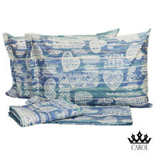 COMPLETO LENZUOLA VAIANA 100% COTONE MADE IN ITALY - BLU