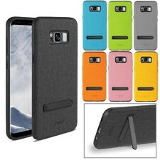 For Samsung Galaxy S8+ Case Rugged Texture TPU Protective Cover with Kickstand