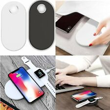 Fast Qi Wireless Charger Charging Pad Dock Station for i-Watch & Iphone &Samsung