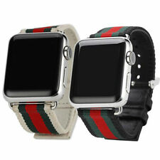 For Apple Watch Series 4 3 2 1 38/40/42/44mm Nylon / Leather Watch Strap Band