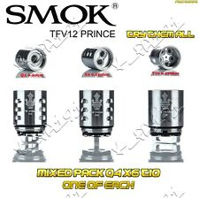 100% Authentic SMOK TFV12 Prince MIXED PACK COILS 1x Q4 X6 AND T10 TRY THEM ALL!