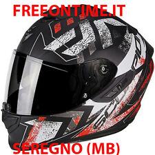 CASCO INTEGRALE SCORPION EXO 1400 AIR PICTA FIBRA VETRO N/R PER MOTO SPORTIVE