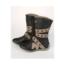 Stivali Bambina Biker Pelle Marrone/ Girl leather boots - Made in Spagna