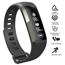 FitCloud Pro Black Smart Watch Wristband Fitness Bracelet For iOS & Android